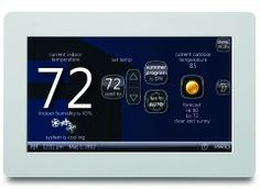 Lennox home screen Home Thermostat, Best Wifi, Heating And Air Conditioning, Heating And Cooling, Home Automation, New Wave, Save Energy, Thermostats, Wi Fi