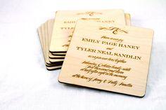 Coaster - convite de casamento #wedding
