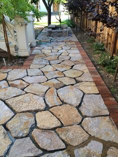 Flagstone Patio Pavers Design Ideas For Backyard Patio Landscaping Ideas Backyard Patio Designs, Front Yard Landscaping, Patio Ideas, Landscaping Ideas, Pavers Ideas, Walkway Ideas, Mulch Landscaping, Landscaping Software, Diy Patio