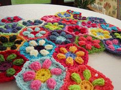 flower hexagon pattern