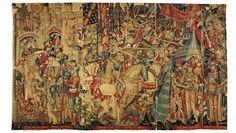 Tapestry with scenes of the war of Troy, 1475-90. V&A Museum