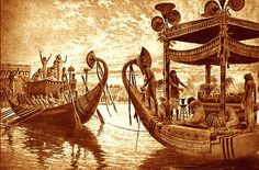 When a person died in ancient Egypt, their religious belief held that the soul of the person would cross the Nile River in a wooden barge. Description from mrguerriero.blogspot.ca. I searched for this on bing.com/images