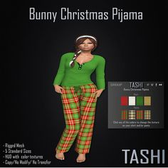 Tashi Bunny Christmas Pijama available  at https://marketplace.secondlife.com/p/Tashi-Bunny-Chrismas-Pijama/6700419