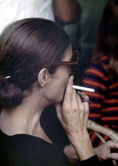 Jackie smoking...