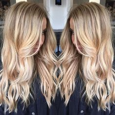 Buttery blonde and completely stunning hair by @mck_manes