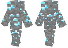 Diamond Minecraft Skin A skin made entirely out of diamond ore.