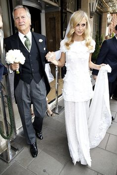 Poppy Delevingne Weeding Dress Chanel
