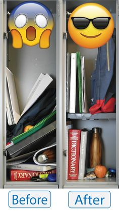 Black Tools for School Locker Drawer Double and with Height Adjustable Shelf