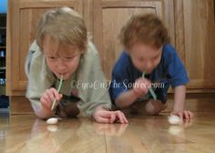 Straw Races and indoor busy activities