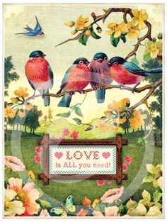 Love is in the Air by Cartolina Cards: Modern Paper Goods Vintage Greeting Cards, Vintage Ephemera, Vintage Postcards, Decoupage, Vintage Pictures, Vintage Images, Arte Country, Affinity Photo, Love Is In The Air