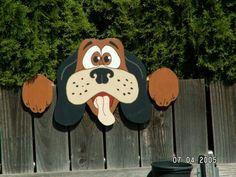 Wooden fence peeker