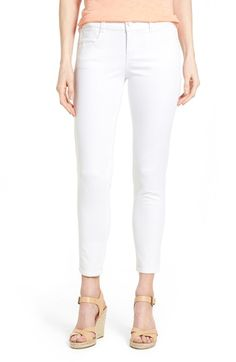 Wit & Wisdom 'Ab-solution' Stretch Ankle Skinny Jeans (Optic White) (Nordstrom Exclusive) available at #Nordstrom