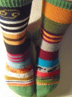 Lankaterapiaa: Kalenterisukat - Scrap Yarn Sock Advent Calendar