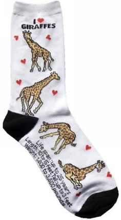 Giraffe Socks and Hats for Girls | XpressionPortal   Teen girls will love giraffe socks for Valentines Day!