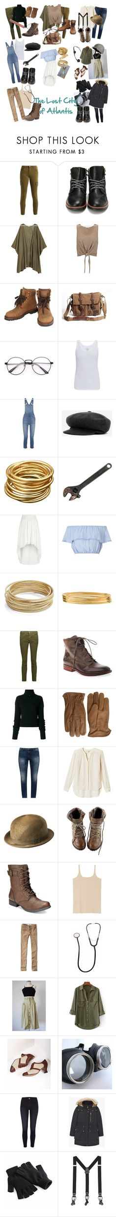 """""""The Lost City of Atlantis Characters"""" by normalpeoplescareme0 ❤ liked on Polyvore featuring Alice + Olivia, Chanel, Majestic, Madewell, kangol, River Island, Miss Selfridge, Design Lab, Jane Diaz and Current/Elliott"""
