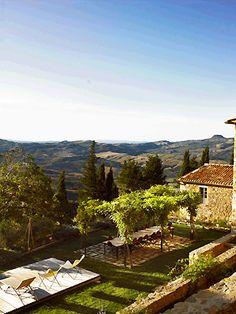 El jardín de la Villa Principal de Monteverdi