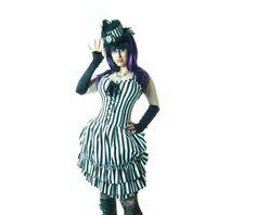 Mercedes dress white and black striped dresses 5