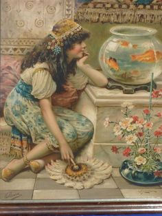 Fish Tales, Painted Cottage, Historical Art, Art Themes, Pictures To Paint, Beautiful Paintings, Vintage Children, Art History, Vintage Art
