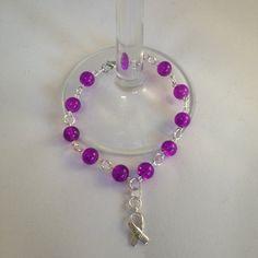 IBD awareness bracelet, glass crackle bead bracelet, beaded bracelet, crohn's and colitis awareness bracelet, uk handmade