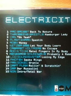 Free CD with Mojo Magazine - 'Electricity' is a good listen.  Tracks selected by Daniel Miller