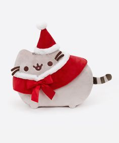 Santa Pusheen The Cat 12in Plush Stuffed Animal Toy, $24 via HeyChickadee.Com