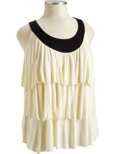 Women's Plus Color-Block Tiered Tops $22.50 I like this top, and I like that tiers are slimming.
