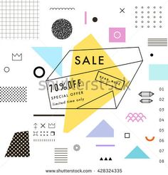 Creative Social Media Sale header or banner with discount offer. Design for seasonal  clearance. It can be used in advertising, web design, graphic design. Vector illustration.