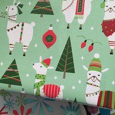 Fa la la llama love! A favorite design we made produced into the cutest textured wrapping paper #falalalalalalalala #thebrooklynnest #llamaswithhats #thechristmasllama #printandpattern #surfacepattern #falalallama
