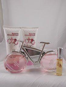 Eau de Parfum, Parfüm Flacon, Fahrrad, Rad, Rosa, Design Flasche, Wellness…