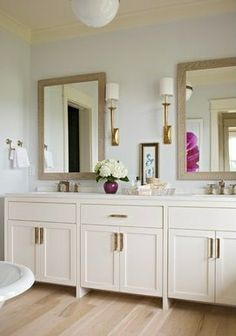 Master Bathroom -- Like the separate mirrors over the double sinks and cabinets