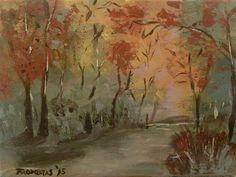 Herbst, 24x18, Acryl auf Leinwand acrylic on canvas #art #painting #malerei # acrylicpainting #acrylic