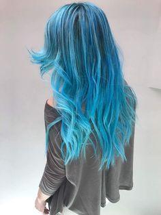 My blue hair by http://instagram.com/sofiakas