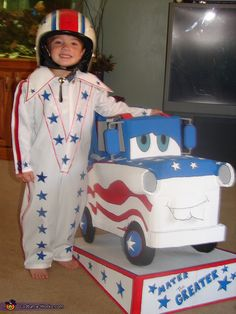 Dare Devil and his Bestest Buddy Mater the Greater - Halloween Costume Contest via @costumeworks