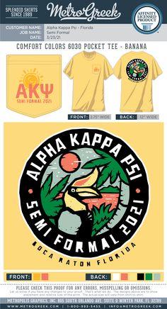 Formal Shirt | Metro Greek | Fraternity Shirts | Sorority Shirts | Tropical Formal | Custom Greek Tees | Sorority Shirts | #fraternityshirt #formal #sororityshirt #metrogreek # Fraternity Shirts, Sorority And Fraternity, Sorority Shirts, Kappa Kappa Psi, Sorority Formal, Formal Shirts, 1st Boy Birthday, Comfort Colors, Shirt Designs