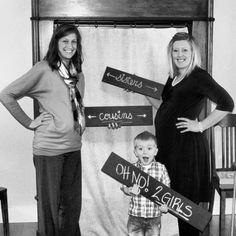 Cousins, sisters, nephew, pregnancy picture