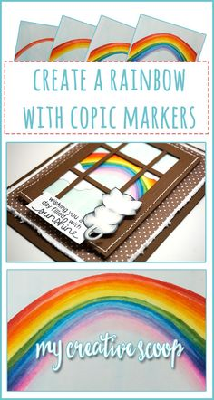 Step by Step Tutorial - How to Create a Rainbow using Copic Markers
