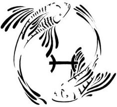 tribal pisces | Zodiac Symbol Tattoos: September 2007