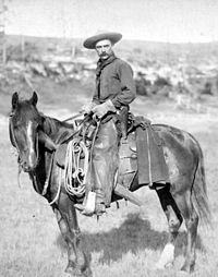 The cowboy, the quintessential symbol of the American frontier, circa 1888.  Google Image Result for http://upload.wikimedia.org/wikipedia/commons/thumb/9/9f/Grabill_-_The_Cow_Boy-edit.jpg/200px-Grabill_-_The_Cow_Boy-edit.jpg