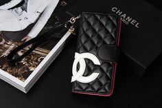 Designer Big CC iPhone 7/iPhone 8 Wallet Case Black