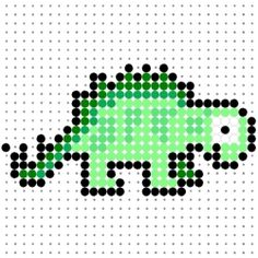 On this page, I am displaying a selection of dinosaur perler bead patterns which I have designed for all the dinosaur fans out there. The patterns include two triceratops, two stegosaurus, a tyrannosaurus rex, a velociraptor, a parasaurolophus and more cute dinosaurs.