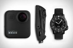 GoPro Max Camera / $500. Gerber Hinderer Knife / $80. Muehle Glashuette Sea-Timer Blackmotion Watch / $2,599....