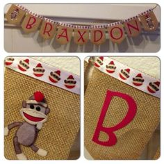 Hey, I found this really awesome Etsy listing at https://www.etsy.com/listing/124139634/sock-monkey-name-banner