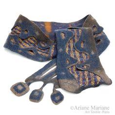 Handgefertigte Filz Schal Kragen Hals wärmere von ArianeMariane