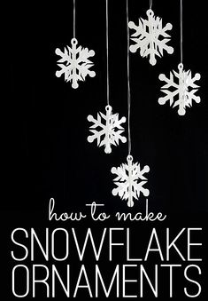 How To Make Snowflake Ornaments - Poster Board