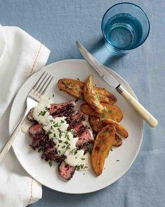 Steak au Poivre with Roasted Fingerling Potatoeshttp://www.marthastewart.com/868517/steak-au-poivre-roasted-fingerling-potatoes