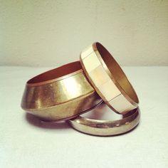 BODACIOUS BRASS BANGLE Bracelets / Retro 80s Jewelry by sugarlily, $18.00