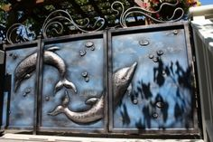 /gallery/bcbs//gates/20100718//th_ Door Knockers, Door Knobs, Door Handles, Gates And Railings, Metal Gates, Forging Metal, Iron Work, Fences, Blacksmithing