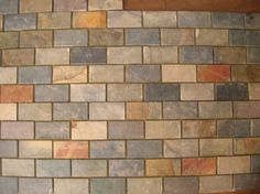 can you mix subway tiles and square tiles | SLATE Subway PATTERN MOSAIC STONE TILE Kitchen Backsplash FREE ...