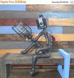 10% de descuento Robot lámpara tubo decoración Industrial