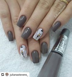 120 trending early spring nails art designs and colors 2019 page 08 – Nail Art Cute Spring Nails, Spring Nail Art, White Nail Designs, Nail Art Designs, Nails Design, Stylish Nails, Trendy Nails, Nails 2018, Super Nails